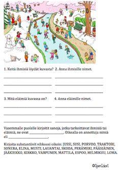 OpenIdeat: Sanaluokat (verbit ja substantiivit) Learn Finnish, Speech Therapy, First Grade, Special Education, Literature, Preschool, Language, Classroom, Teaching