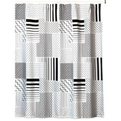Creative Bath Modern Angles 72 in. x 72 in. Black/White/Grey Polyester Shower Curtain-S1226BW - The Home Depot