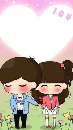 Love Cartoon Couple, Cute Cartoon Pictures, Cute Love Cartoons, Anime Love Story, Cute Couple Drawings, Creepy Horror, Decoupage, Cute Girl Wallpaper, Kawaii Cute
