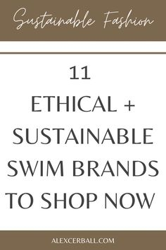 Whether you're planning your next dream vacation or a weekend escape to Noosa or Byron Bay, don't leave home without your favorite ethical swimsuit. Here are our top picks for ethical and sustainable swim brands from the USA, Australia + Bali for mindful and conscious shoppers. Plus, how to style your swimwear to wear it beyond the beach.