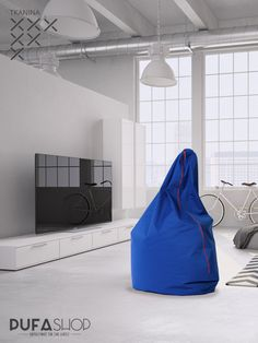 Pufa Egg tkanina niebieska aranzacja, czerwony zamek siedzisko Teak, Bean Bag Chair, Asia, Furniture, Home Decor, Decoration Home, Room Decor, Beanbag Chair, Home Furnishings