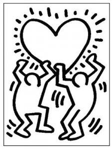 Keith Haring - Free printable Coloring pages for kids Colouring Pages, Coloring Pages For Kids, Coloring Sheets, Keith Haring Art, Keith Haring Poster, Collaborative Art, Magritte, Free Printable Coloring Pages, Henri Matisse