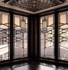 The Robie House: Stained Glass Windows (Frank Lloyd Wright)