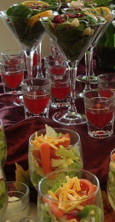 individual salad portions