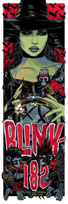 Blink-182 Poster Austin by Rhys Cooper