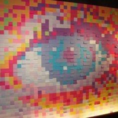 Quieres hacer un muro como este? visita www.post-it.com.mx y conoce Mi Muro!