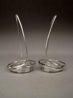 Metropolis Earrings Sterling Silver by lesleytinnaro on Etsy