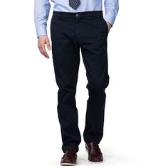 Introducing Tommy Hilfiger Tailored. Sophisticated, modern menswear that's tailored to turn heads. • Fit: regular-fit chino trousers • Quality: cotton twill-elastane blend • Details: washed with soft-contrast bar tacks, flat front, French pockets, piping on pockets at the back, embroidered flag logo • Foot width: 40cm Our model is 1.86m and is wearing a size W32/L34 pair of chinos.