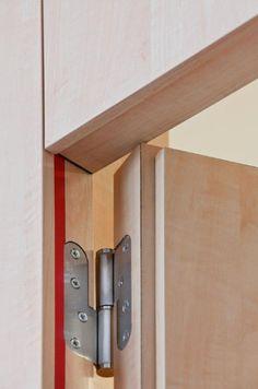 Custom Wood Doors, Wooden Doors, Flush Door Design, Invisible Doors, Flush Doors, Wooden Door Design, Door Detail, Room Doors, Windows And Doors