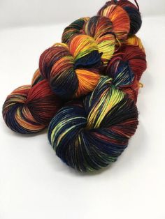 Fox Fire Indie Dyed Yarn on Merino cashmere Nylon MCN blue