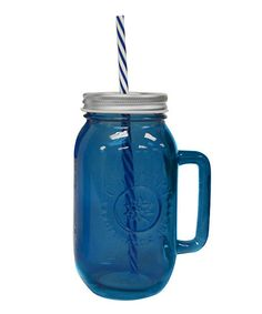 Sapphire 24-Oz. Drinking Jar  Reusable Straw