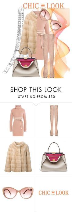 """""""Parisienne"""" by starrybell ❤ liked on Polyvore featuring Valentino, Liska, Fendi, paris, fur and OverTheKneeBoots"""