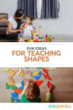 When do kids learn shapes? Here we discuss what age children should know basic and advanced shapes, as well as different methods for teaching shapes. Holiday Activities For Kids, Games For Toddlers, Summer Activities For Kids, Kid Activities, Educational Activities, Classroom Activities, Teaching Shapes, Teaching Tips, Learning Colors