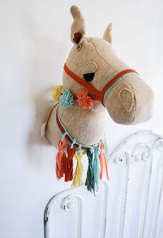 Faux Taxidermy Felt Camel Head by tinynaturalist on Etsy