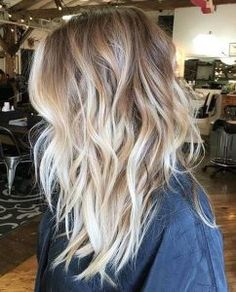 Bilderesultat for balayage blonde long hair