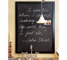 chalkbaord menu - Framed Magnetic Chalkboard Tutorial