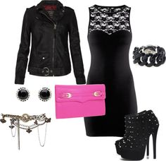 """""""Rocker Chic"""" by makeupwishes on Polyvore"""