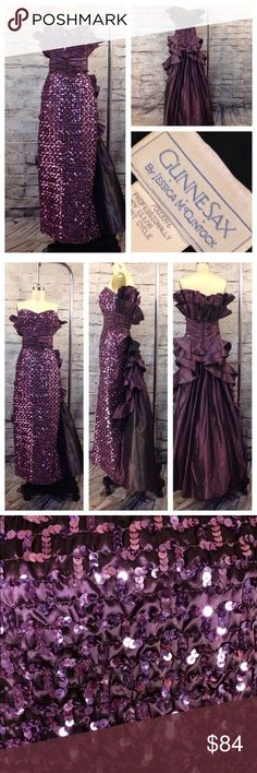 8fd44418e1856f VINTAGE GuNnE SaX DRESS SzS I know right beautiful gunne sax purple  gown.....I don t know where your going but this so stunning. Tag reads 7 8  but it s more ...