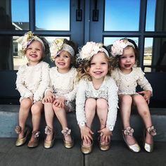 These four cuties light up the world with their smiles and giggles. Thank you so much @gardnerquadsquad for making me smile laugh and love every single day. #Indie #Esme #Scarlett #Evie #gardnerquadsquad