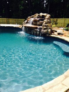 Pool Waterfall Pool Installation, Pool Waterfall, Outdoor Decor