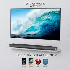 #LG OLED TV received global recognition for Best of Innovation at the CES 2017. #FutureOfTV