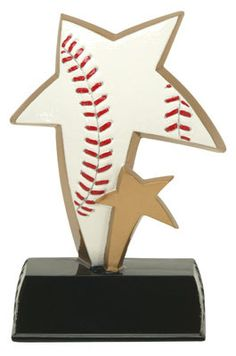 "Baseball Trophy - 6"" Sport Stars"