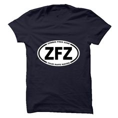 (Tshirt Deal Today) Zombie Free ZoneYour Safe Haven [Tshirt Facebook] Hoodies, Funny Tee Shirts