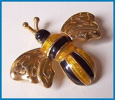 bumble bee jewelry | Bumble Bee Brooch Pin by BrightgemsTreasures, $9.50 #vjse2 #jewelry ...
