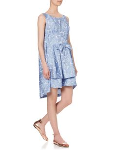 Pale Blue Jacquard Sissi Dress   Vivetta   Avenue32