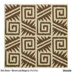 Aztèque d'Ikat - Brown et beige Tissu