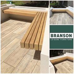 Branson Leisure is a leading UK street furniture supplier. An excellent bespoke service and a wide range of product designs. Outside Seating, Outdoor Seating, Outdoor Spaces, Outdoor Decor, Patio Ideas, Garden Ideas, Planter Bench, Kitchen Seating, Hardwood Furniture
