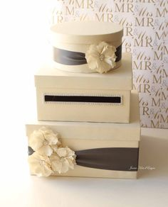 Wedding Card Box Money Box Gift Card Holder - I did this, it's easy and so different from all the wishing wells.