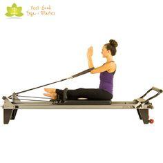 shopping bag arms pilates reformer exercise start position