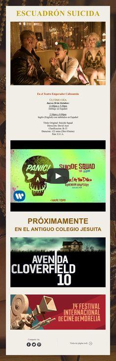 ¿Ya viste Escuadrón Suicida? ¿Qué esperas? ¡Último día en Pátzcuaro!