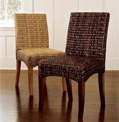 I really like these chairs; however, they scream cat scratching post to me.  Imagine what the cat would think.