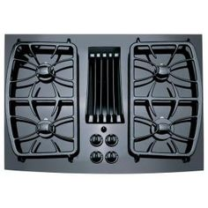 GE Profile 30 in. Glass Ceramic Gas Cooktop in Black with 4 Elements-PGP989DNBB at The Home Depot - purchase price $5
