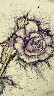 cute drawings: A rose :D :x