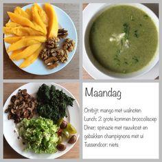 Dag menu: puur, bewust, gezond! Lchf, Keto, Sugar Detox, Cantaloupe, Paleo, Low Carb, Fruit, Food, Low Carb Recipes