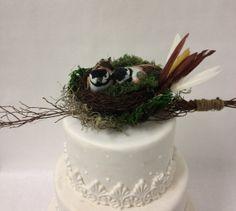 Love Birds Cake Topper by RufflesnRouge on Etsy, $34.99
