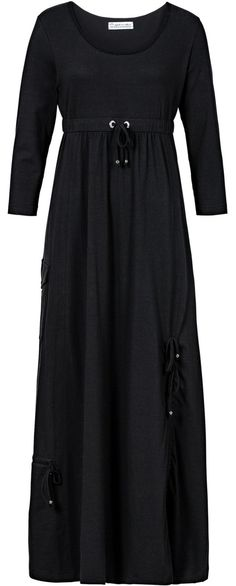 comfy black maxi dress <3