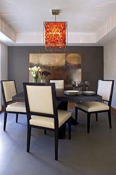 Dining Room Lighting Fixtures You Must Know Dining Room Art, Dining Bench, Dining Chairs, Dining Room Light Fixtures, Dining Room Lighting, Brown Walls, Grey Walls, Sarah Richardson, Nate Berkus