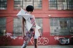 Geometric Body Sculpture - Wearable Art - Origami