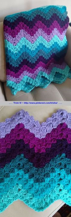 Vintage Rippling Blocks, free pattern by Angela Maria from her grandmother's pattern. Pic from Ravelry Project Gallery: