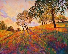 Crystal Hills, modern expressionist landscape painting by Los Angeles artist Erin Hanson