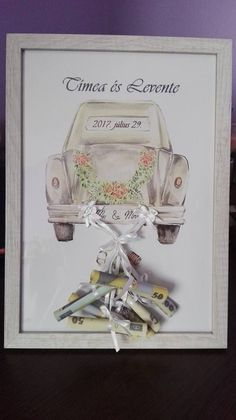 hobbies that make money Ein Mitglied der Creative - makemoney Wedding Gifts For Newlyweds, Wedding Present Ideas, Creative Wedding Gifts, Handmade Wedding Gifts, Newlywed Gifts, Wedding Cards, Wedding Favors, Diy Framed Art, Watercolor Art Diy