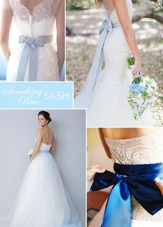 "8 ""Something Blue"" Wedding Ideas Just For You: Blue Bow Your groom is a lucky man, he gets you as a gift! A blue bow tied around your waist adds the perfect contrast against an all white dress. Something Blue Wedding, Something Old, Blue Bow Tie, Wedding Etiquette, Lucky Man, Blue Bridal, All White, Veils, Bridal Accessories"