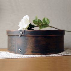 Vintage Wood Pantry Box  Wooden Spice Box  Riveted by @thelostrooms #storage