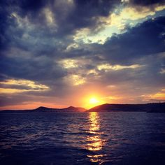 Breath-taking sunset from Agia Marina