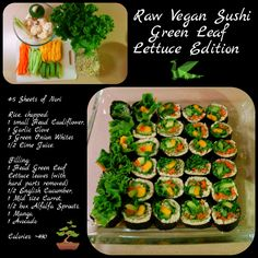 Raw Vegan Sushi Lettuce Edition - Easily Raw