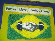 40 Atividades para o dia da Independência do Brasil - 7 de Setembro - Parte 1 - Aluno On 1, Baseball Cards, Education, Toddler Activities, Brazil Flag, Kids Learning, Important Dates, Classroom, Onderwijs